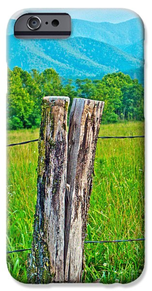Old Fence Posts iPhone Cases - The Post iPhone Case by M J Glisson