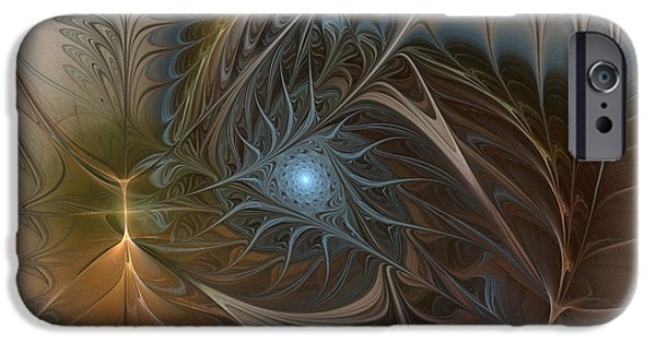 Poetic iPhone Cases - The Power Inside-Abstract Fractal Art iPhone Case by Karin Kuhlmann