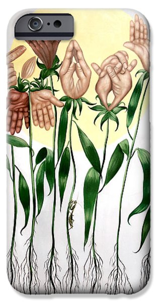The Prayer Garden iPhone Case by Anthony Falbo