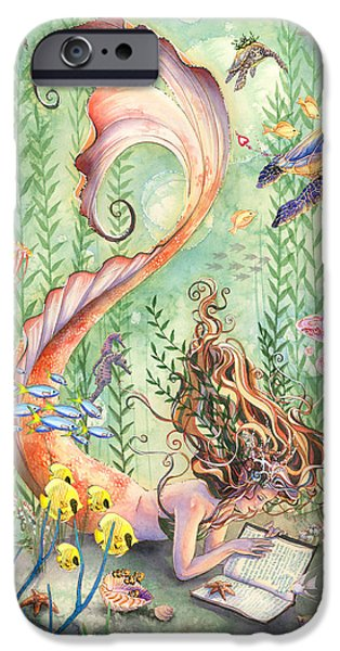 Whimsical. Paintings iPhone Cases - The Prayer iPhone Case by Sara Burrier