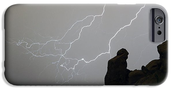 Striking Photography iPhone Cases - The Praying Monk Lightning Storm Chase iPhone Case by James BO  Insogna