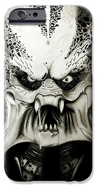 Recently Sold -  - Creepy iPhone Cases - The Predator iPhone Case by Scott McIntire