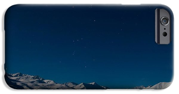 Oglivie Mountains iPhone Cases - The Presence Of Absolute Silence iPhone Case by Priska Wettstein