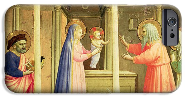 Annunciation iPhone Cases - The Presentation in the Temple iPhone Case by Fra Angelico