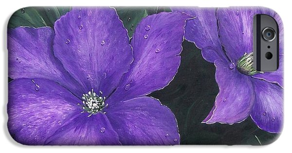 President iPhone Cases - The President Clematis iPhone Case by Sharon Duguay