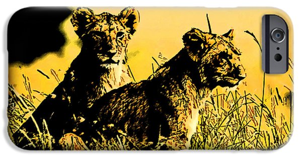 Concept Paintings iPhone Cases - The Pride Art2 iPhone Case by MotionAge Designs