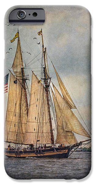 Pirate Ship iPhone Cases - The Pride Of Baltimore II iPhone Case by Dale Kincaid