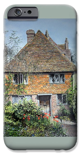 History Pastels iPhone Cases - The Priests House Sissinghurst Castle iPhone Case by Rosemary Colyer