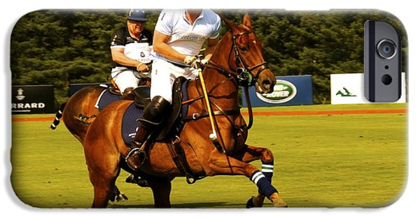 Prince Harry iPhone Cases - The Prince and Polo iPhone Case by Kate Stoupas