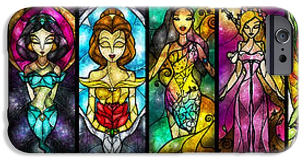 Aurora iPhone Cases - The Princesses iPhone Case by Mandie Manzano