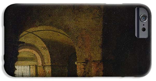 Dungeons iPhone Cases - The Prisoner, C.1787-90 Oil On Canvas iPhone Case by Joseph Wright of Derby