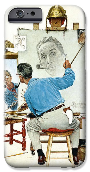 Painter Print Photographs iPhone Cases - The Problem We All Live With by Norman Rockwell iPhone Case by Nomad Art And  Design