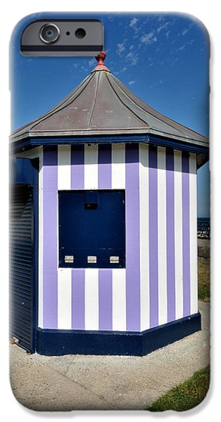 Architectur iPhone Cases - The Purple Kiosk in Bray ireland iPhone Case by Frazer Ashford