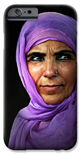 The Purple Sari iPhone Case by Diana Angstadt
