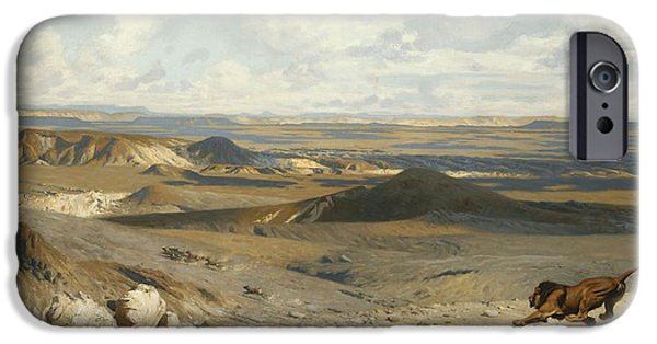 Gerome iPhone Cases - The Pursuit iPhone Case by Jean Leon Gerome