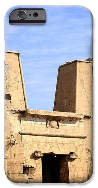 The Pylons of Edfu Temple iPhone Case by Brenda Kean