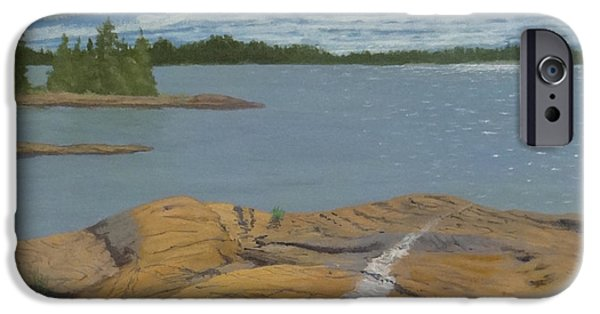 Park Scene Paintings iPhone Cases - The Quartz Vein iPhone Case by Doug Goodale