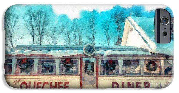 Quechee iPhone Cases - The Quechee Diner Vermont iPhone Case by Edward Fielding