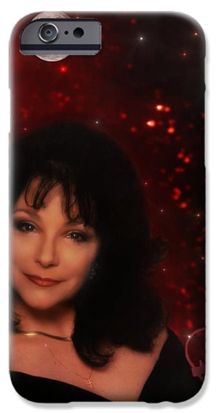 Woman With Black Hair iPhone Cases - The Queen iPhone Case by Michael Rucker