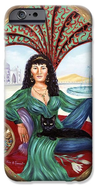 Archetype Paintings iPhone Cases - The Queen of Sheba iPhone Case by Karin  Leonard