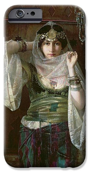 Middle East iPhone Cases - The Queen of the Harem iPhone Case by Max Ferdinand Bredt
