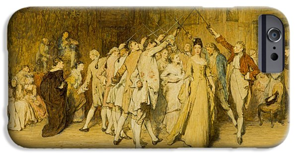 Formation iPhone Cases - The Queen Of The Swords, C.1877 Oil On Canvas iPhone Case by Sir William Quiller Orchardson