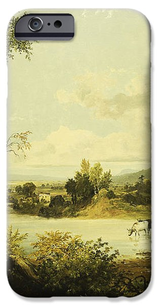 The Quiet Valley iPhone Case by Jasper Francis Cropsey