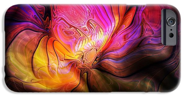 Floral Digital Art Digital Art iPhone Cases - The Quilt iPhone Case by Amanda Moore