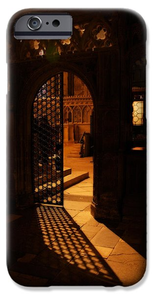 Light And Dark  iPhone Cases - The Quire Lies Beyond iPhone Case by Lisa Knechtel