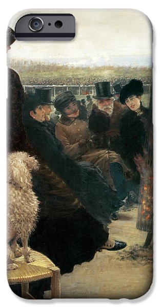 The Races at Auteuil iPhone Case by Giuseppe Nittis