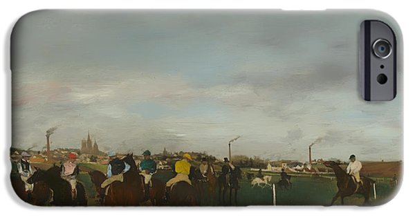 Horse Racing iPhone Cases - The Races iPhone Case by Edgar Degas