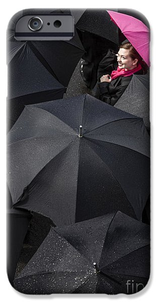 Umbrella iPhone Cases - The Rain is Over iPhone Case by Diane Diederich