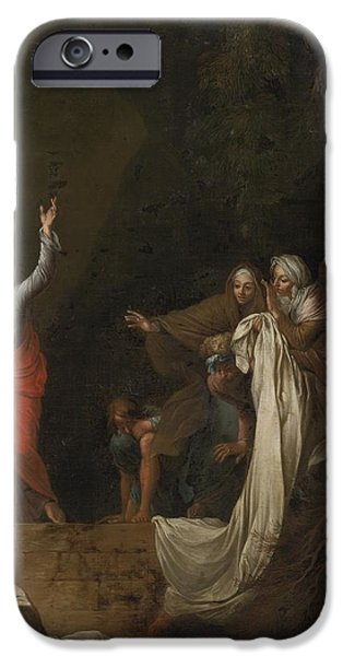 The Followers iPhone Cases - The Raising Of Lazarus iPhone Case by Celestial Images
