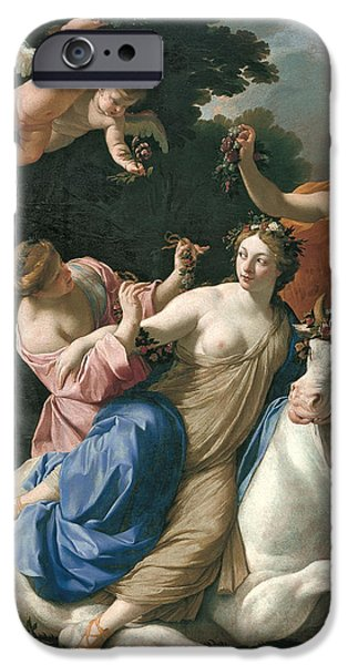 Europa Paintings iPhone Cases - The Rape of Europa iPhone Case by Simon Vouet