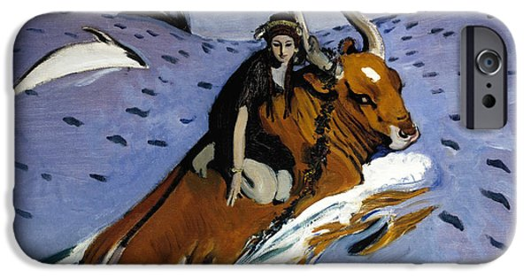 Europa Paintings iPhone Cases - The rape of Europa iPhone Case by Valentin Alexandrovich Serov