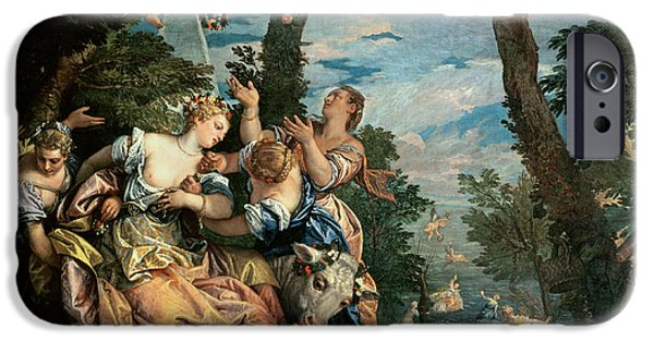 Europa Paintings iPhone Cases - The Rape of Europa iPhone Case by Veronese