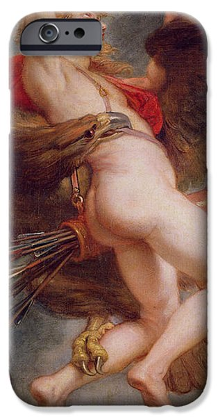 Olympus iPhone Cases - The Rape of Ganymede iPhone Case by Rubens