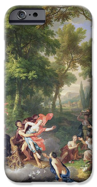 Goddess Mythology Paintings iPhone Cases - The Rape Of Proserpine iPhone Case by Jan van Huysum