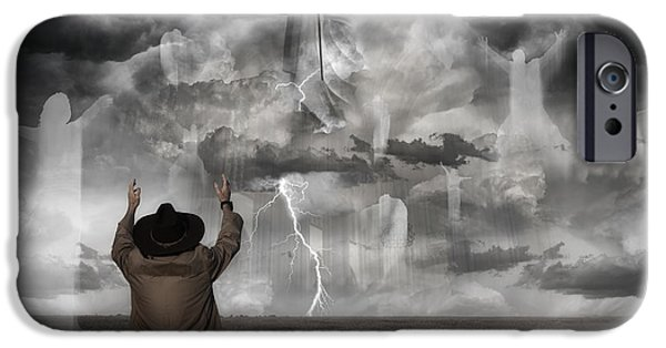 Surreal Landscape Photographs iPhone Cases - The Rapture II iPhone Case by Keith Kapple