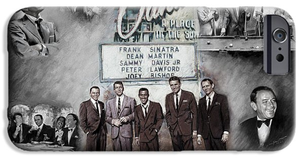 Frank Sinatra iPhone Cases - The Rat Pack iPhone Case by Viola El