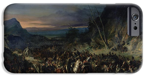 Wounded iPhone Cases - The Ravine, Campaign Of 1809, 1843 Oil On Canvas iPhone Case by Nicolas Toussaint Charlet