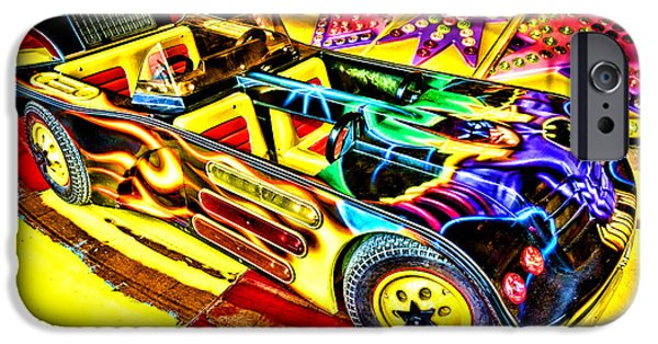 Art Mobile iPhone Cases - The Real Batmobile iPhone Case by Olivier Le Queinec