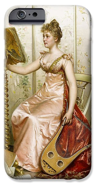 Woman In A Dress iPhone Cases - The Recital iPhone Case by Frederick Soulacroix