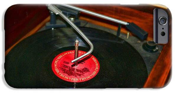 Disc iPhone Cases - The Record Player iPhone Case by Paul Ward