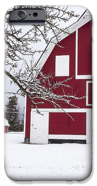The Red Barn iPhone Case by Fran Riley