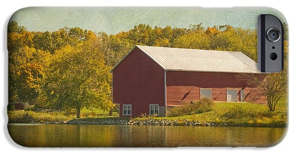 Old Barns iPhone Cases - The Red Barn iPhone Case by Kim Hojnacki
