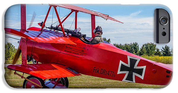 Triplane iPhone Cases - The Red Baron iPhone Case by Steve Harrington
