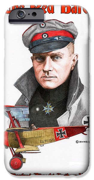 World War One iPhone Cases - The Red Baron iPhone Case by Willie Smith