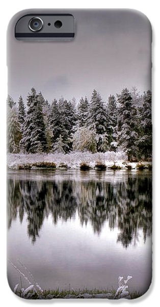 The Red Canoe iPhone Case by Donna Kennedy