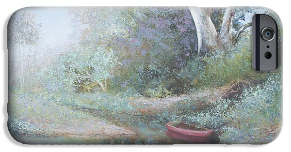 Canoe iPhone Cases - The Red Canoe iPhone Case by Jan Matson